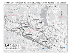 MBTA Arlington Bus Route map