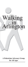 Walking in Arlington tri-fold pamphlet